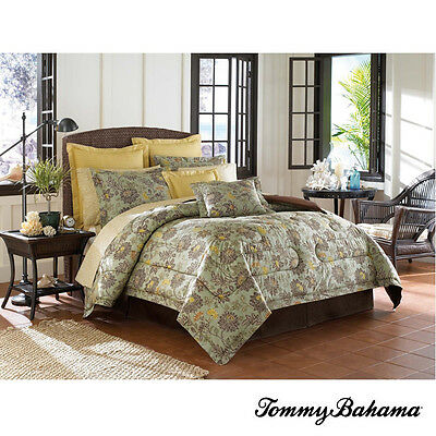 Tommy Bahama Cat Island 4pc Cal King Comforter Set Nip