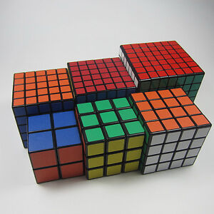 ShengShou 2x2 3x3 4x4 5x5 6x6 7x7 Black Rubiks Speed Magic Cube Twist Puzzle
