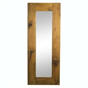 NEW SOLID WOODEN CHUNKY RUSTIC PLANK PINE MIRROR (any size made) frame furniture