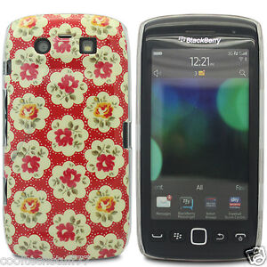 For Various Models Red Yellow Vintage Chic Floral Flower Hard Fitted Case Cover
