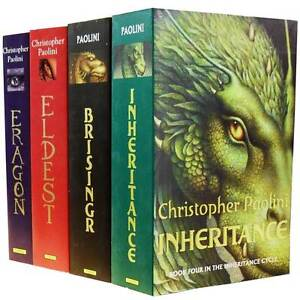 Inheritance Cycle Collection Christopher Paolini 4 Books Set Eragon Brisingr PB