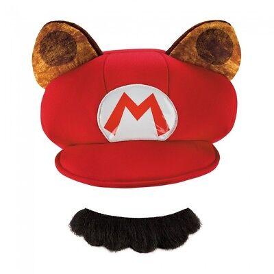 Erwachsene Mario Washbär Zubehör Set Hut & Schnurrbart Welt des Nintendo