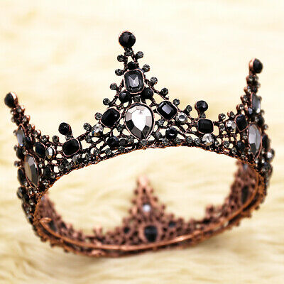 US! Women Girls Retro Baroque Queen Crown Bride Tiara Cake Topper Decoration](Tiara Cake Topper)