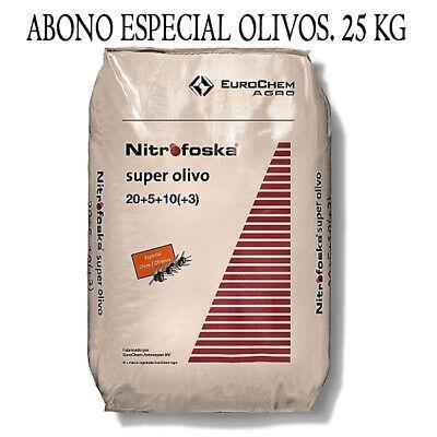 NITROFOSKA SUPER OLIVO 20-5-10. ABONO SUSTRATO NUTRIENTE OLIVO OLIVAR 25 Kilos.