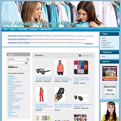 APPAREL & CLOTHES STORE - Premium Website Theme Design - High Income Potential!