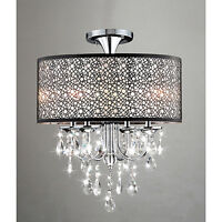 Bubble Shade Crystal Flushmount Chandelier - New in Box