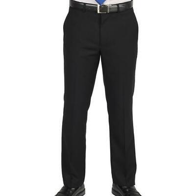 NWT BILLY LONDON MEN'S BLACK SUIT SEPARATES TROUSERS DRESS PANTS SIZE 36 X 32