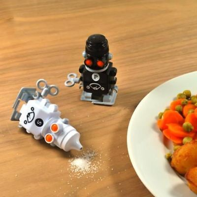 Sale e Pepe Puntini Set Condimenti Shaker Pentole Novità Vento Fino Muove Robots