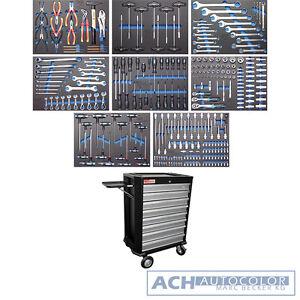 BGS 4050 Profi Werkstattwagen mit 296 Werkzeugen bestückt, 8 Schubladen fahrbar