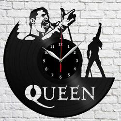 Freddie Mercury Vinyl Record Wall Clock Fan Art Home Decor Original Gift 3912