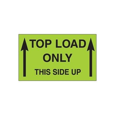 Thorntons Labels Top Load Only - This Side Up 3 X 5 Green 500