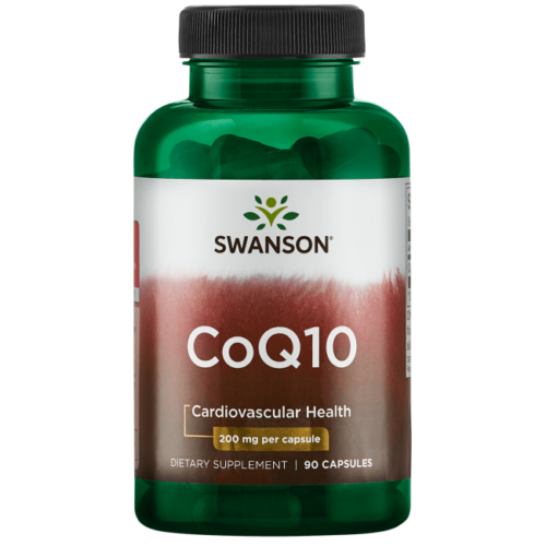 Swanson CoQ10 Capsules, 200 mg, 90 Count
