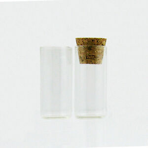 Clear glass bottle test tube vial cork wishing oil for Glass test tubes for crafts