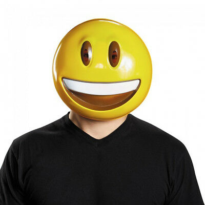 Emoji Smile Mask Emoticon Smiley Big Face Costume Happy Laughing Adult