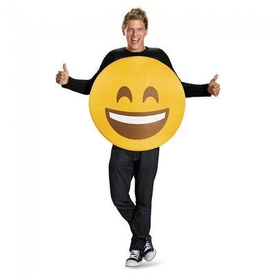 cht Emoji Emoticon Goofy Erwachsene Unisex Halloween Kostüm (Smiley Kostüm Halloween)