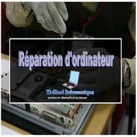 Services de réparation d'ordinateurs sur place et à domicile