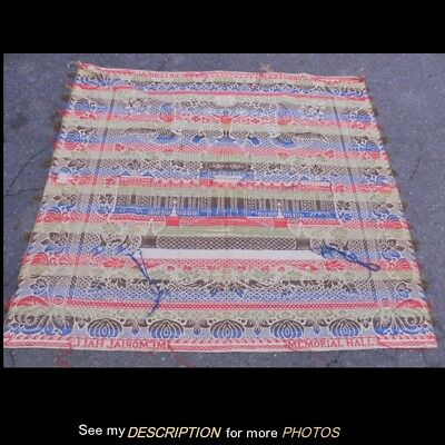 RARE 1876 Centennial Memorial Hall 5 Color Jacquard-woven Coverlet