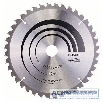 BOSCH Sägeblatt OPTILINE Wood 254mm 40WZ/N für Kappsäge GCM 10 SD 0601B22503