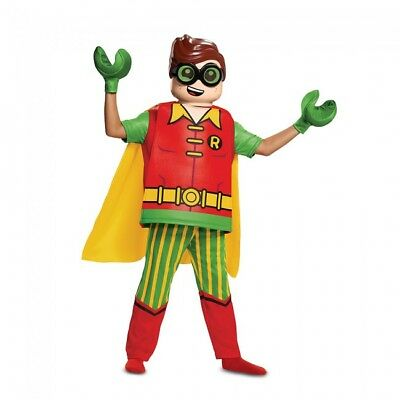 Disguise Lego Batman Robin Deluxe DC Comics Child Boys Halloween Costume - Robin Lego Kostüm