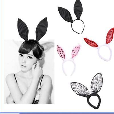 2016 Fluffy Bunny Rabbit Ears Sequine Headband Costume Halloween Accessory G (Fluffy Bunny Halloween Costume)