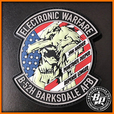 B-52H ELECTRONIC WARFARE SPECIALIST PVC SKULL AND CROW PATCH, BARKSDALE AFB GLOW for sale  Kansas City