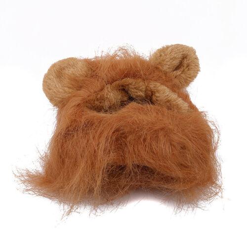 54acc4cb2 Pet Cat Dog Dress Up Costume Wig Emulation Lion Hair Mane Ears Head ...