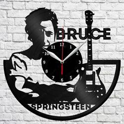Bruce Springsteen Vinyl Clock Record Wall Clock Decor Fan Art Home 3026