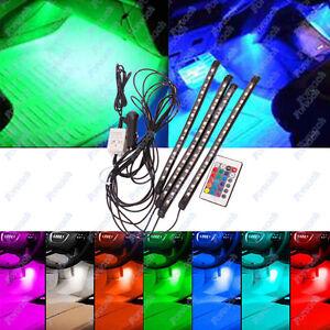 4x LED Innenbeleuchtung Fußraumbeleuchtung Fußboden Unterboden Lampe Auto Farbe