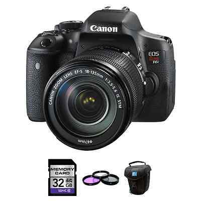 Canon EOS Rebel T6i 24.2MP Digital SLR Camera with EF-S 18-1