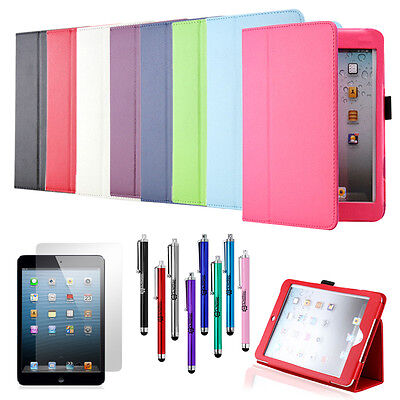 For New iPad Mini 1 2 3 Magnetic PU Leather Folio Stand Case Cover Sleep Wake