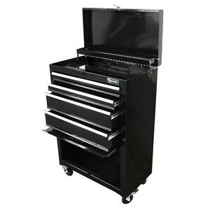 Tool Box  LargeTool Chest Cabinet Tool Storage 4-Drawer Toolbox Rolling Steel