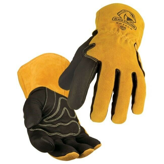 Black Stallion Premium Grain MIG Welding Gloves Large