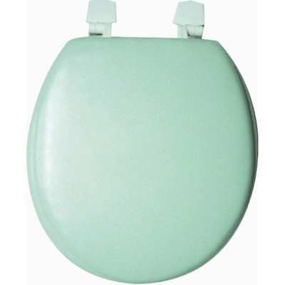 - Mint Green Soft Padded Cushion Toilet Seat Round Standard Size New Solid Color