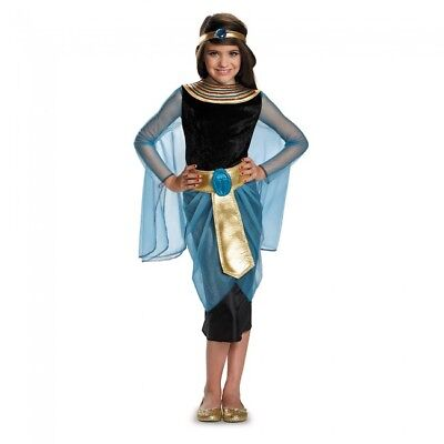Girls Deluxe Cleopatra Costume Egyptian Goddess Fancy Dress Princess Child - Egyptian Dress Up Costumes