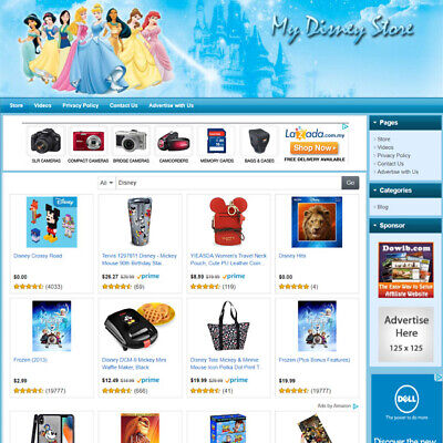 Disney Toys Store - Best Affiliate Website For Sale With Potential High Income