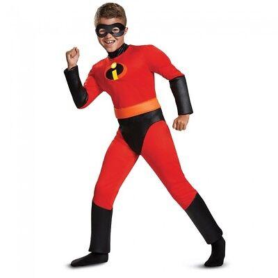 Disguise The Incredibles Sprint Klassisch Muskel Kind Jungen Halloween Kostüm ()