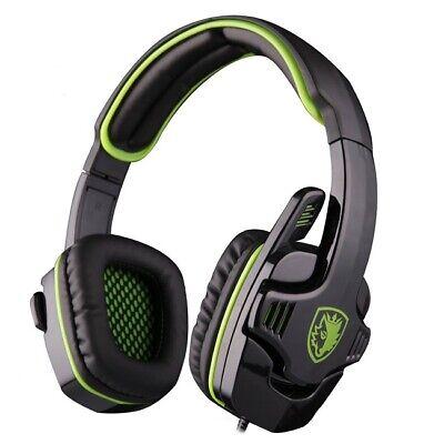 SADES SA-708 GT Stereo HiFi Gaming Headset Headphone with Microphone - Green