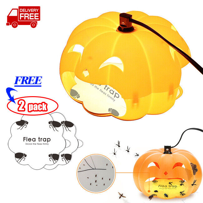 Electric Pumpkin Shaped Flea Killer Insect Trap Lamp Mosquito Bug Catcher Light