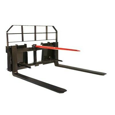 Titan 48 Pallet Fork Hay Bale Spear Attachment 5500 Lb Capacity For Skid Steer
