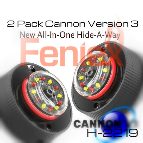 2pack RED-WHITE NEW Feniex Cannon ALL in ONE Hide-A-Way LED Lights    H-2219-RW