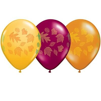 Autumn Leaves 11 Inch Qualatex Balloons 25 Pack Fall Party - Fall Balloons