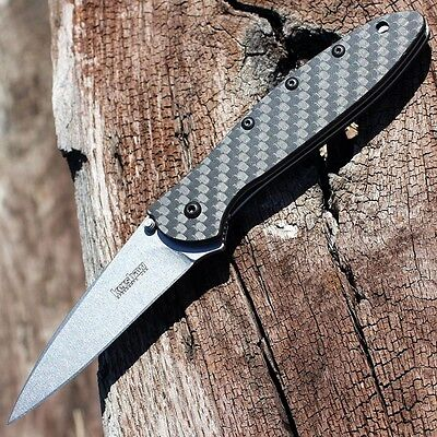Kershaw  Usa    Carbon Fiber Leek Cpm 154 Spring Assisted Speedsafe Knife 1660Cf