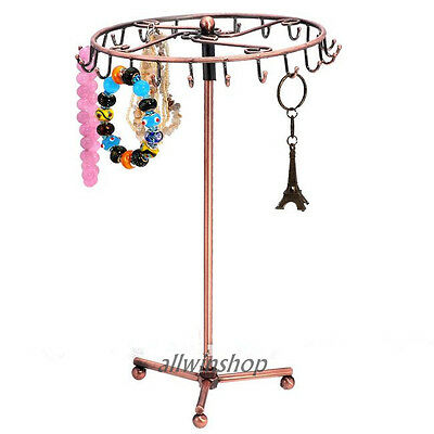 Jewelry Tree Rotating Ring Display Holder Organizer Bracelet Necklace Stand Rack