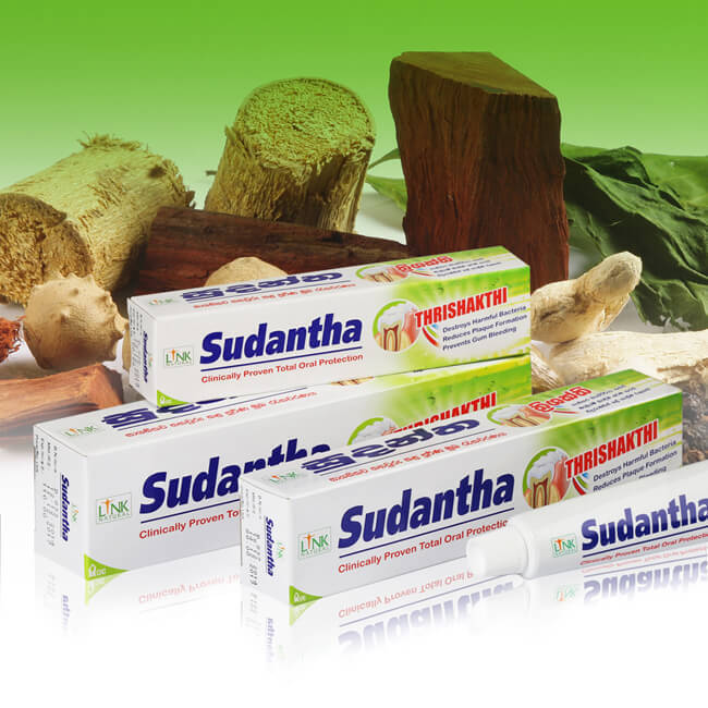 Herbal toothpaste SUDANTHA total oral care/natural 45g NON FLUORIDE AYURVEDA