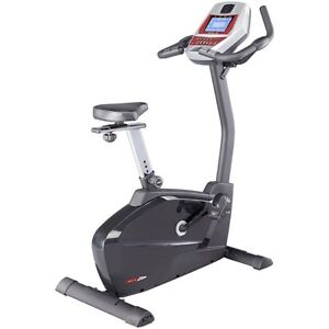 Upright Exercise Bike with Heart Monitor + Floor Mat