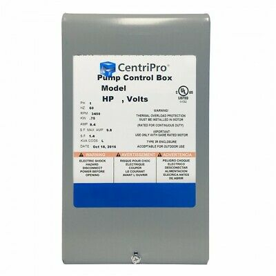Cb10412 Goulds 1hp Quick Disconnect Control Box 230v