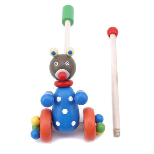 Wooden Dog Push Pull Toy Baby Puzzle playology Pet Toys Best