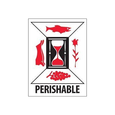 Thorntons Labels Perishable 3 X 4 Redwhiteblack 500roll