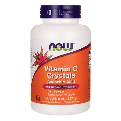 Now Foods VITAMIN C CRYSTALS 8 oz, 206 Servings ASCORBIC ACID Potent Antioxidant