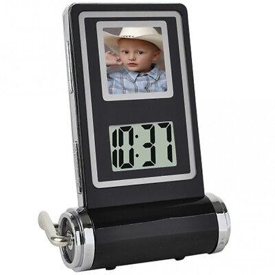 """1.5"""" LCD Mini Digital Album Photo Picture Frame Clock Temperature Calendar Gifts"""
